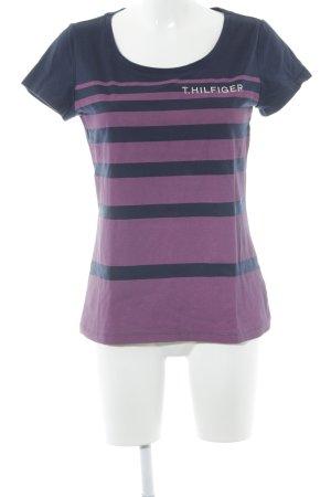 Tommy Hilfiger T-Shirt dunkelblau-lila Streifenmuster Casual-Look
