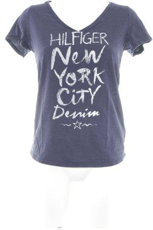 Tommy Hilfiger T-Shirt dunkelblau Motivdruck schlichter Stil