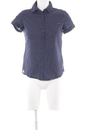 Tommy Hilfiger T-Shirt dunkelblau-weiß Punktemuster Casual-Look
