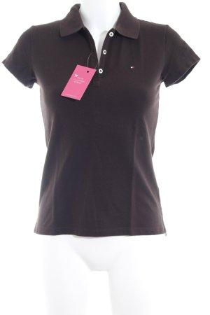 Tommy Hilfiger T-Shirt dunkelbraun Casual-Look