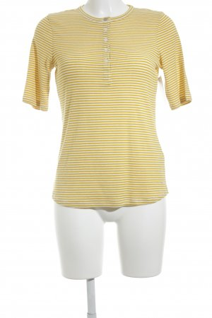 Tommy Hilfiger T-shirt giallo scuro-bianco sporco motivo a righe stile atletico