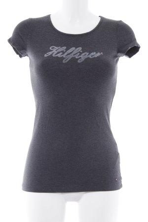 Tommy Hilfiger T-shirt grigio scuro puntinato stile semplice