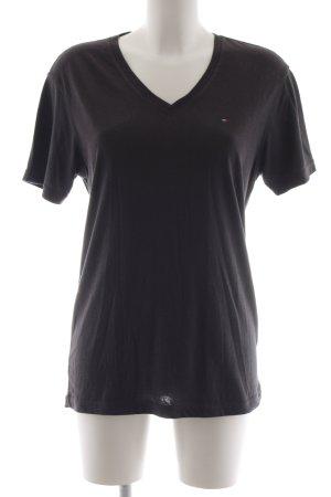 Tommy Hilfiger T-shirt donkergrijs atletische stijl