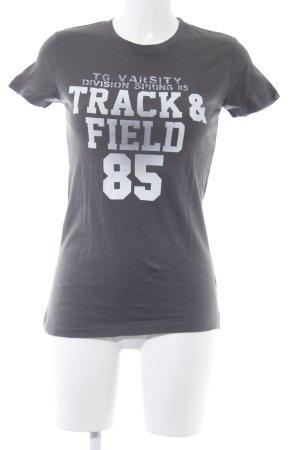 Tommy Hilfiger T-Shirt dunkelgrau-weiß Schriftzug gedruckt Casual-Look