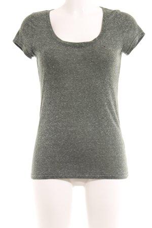 Tommy Hilfiger T-Shirt dunkelgrün-hellgrau meliert Casual-Look