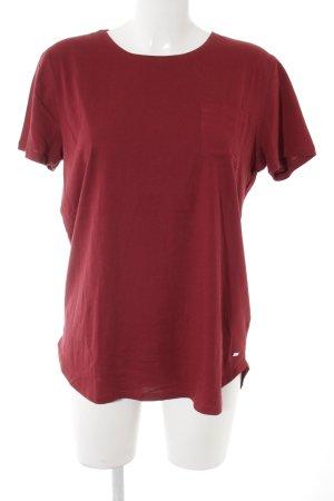 Tommy Hilfiger T-Shirt dunkelrot schlichter Stil