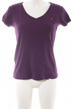 Tommy Hilfiger T-Shirt dunkelviolett Casual-Look