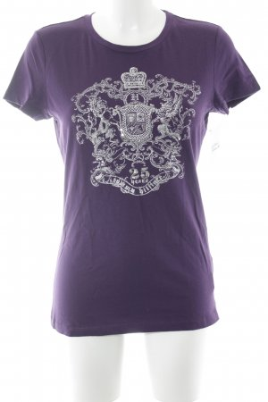 Tommy Hilfiger T-shirt viola scuro-argento Stampa a tema stile casual