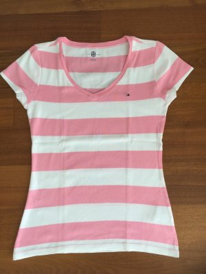 Tommy Hilfiger T-shirt wit-roze Katoen