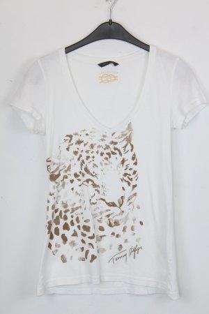 Tommy Hilfiger T-shirt wit-lichtbruin Katoen