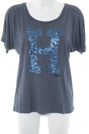 Tommy Hilfiger T-Shirt graublau meliert schlichter Stil