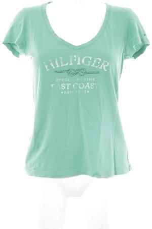 Tommy Hilfiger T-Shirt grün Motivdruck schlichter Stil