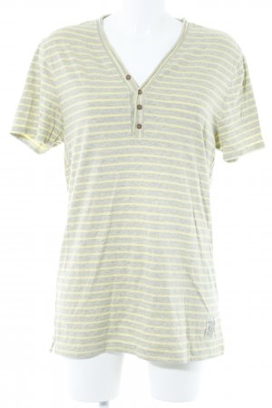 Tommy Hilfiger T-Shirt light grey-pale yellow striped pattern casual look