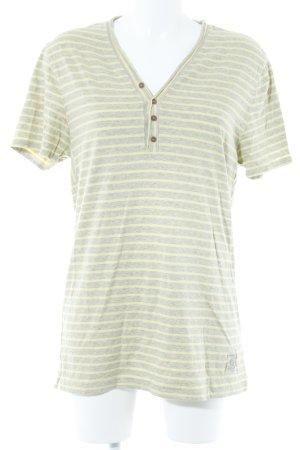 Tommy Hilfiger T-Shirt hellgrau-hellgelb Streifenmuster Casual-Look