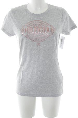 Tommy Hilfiger T-shirt grigio chiaro-rosa Stampa a tema stile casual