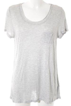 Tommy Hilfiger T-Shirt hellgrau-weiß Streifenmuster Casual-Look