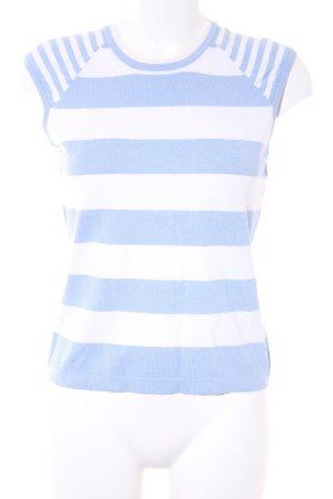 Tommy Hilfiger T-shirt viola-bianco motivo a righe stile casual