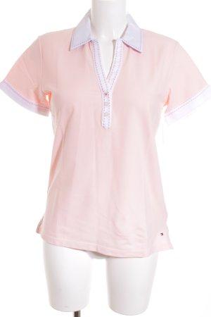 Tommy Hilfiger T-Shirt hellrosa-weiß Casual-Look