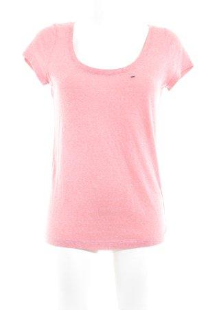 Tommy Hilfiger T-Shirt hellrot meliert Casual-Look