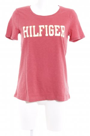 Tommy Hilfiger T-Shirt himbeerrot grafisches Muster Casual-Look