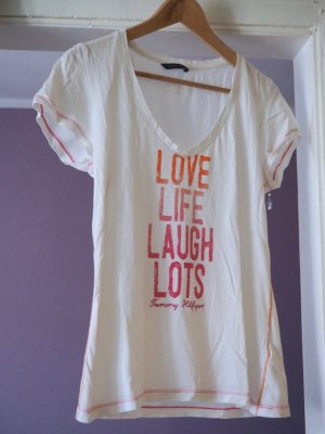 TOMMY HILFIGER T-Shirt, Love Life Laugh Lots ,  Gr. L