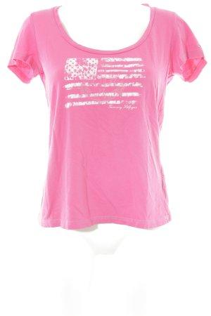 Tommy Hilfiger T-Shirt pink Motivdruck schlichter Stil