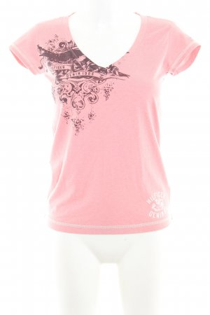 Tommy Hilfiger T-Shirt rosa abstraktes Muster Casual-Look