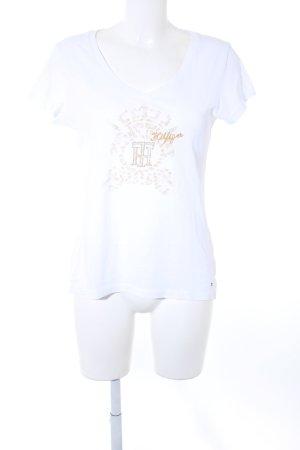 Tommy Hilfiger T-Shirt Schriftzug gestickt klassischer Stil