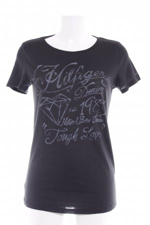 Tommy Hilfiger T-Shirt schwarz-grau Motivdruck Casual-Look