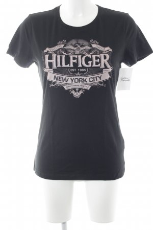 Tommy Hilfiger T-Shirt schwarz-rosa Casual-Look