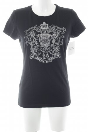 Tommy Hilfiger T-shirt nero-argento Stampa a tema stile casual