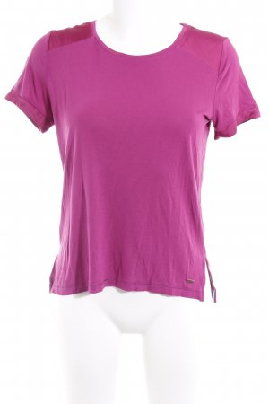 Tommy Hilfiger T-Shirt violett Casual-Look