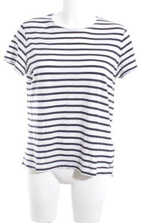 Tommy Hilfiger T-Shirt weiß-dunkelblau Streifenmuster Casual-Look