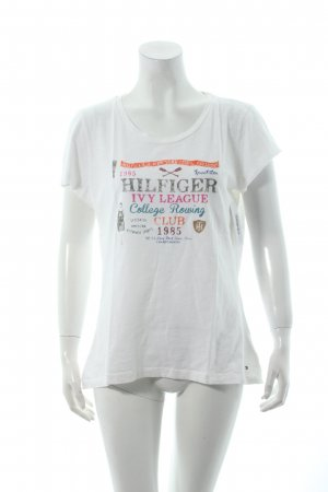Tommy Hilfiger T-Shirt weiß Motivdruck Casual-Look