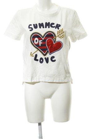 Tommy Hilfiger T-Shirt weiß Motivdruck College-Look