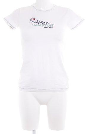 Tommy Hilfiger T-Shirt weiß Schriftzug gestickt Casual-Look