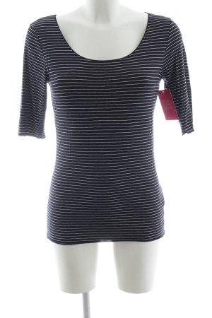 Tommy Hilfiger T-Shirt weiß-schwarz Streifenmuster Casual-Look