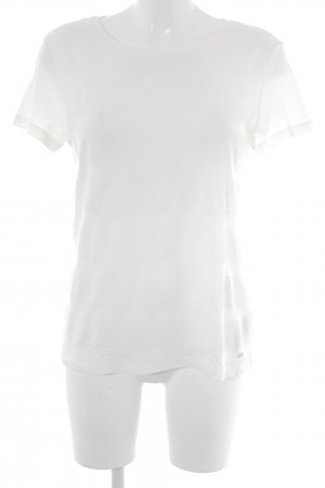 Tommy Hilfiger T-Shirt wollweiß Streifenmuster Casual-Look
