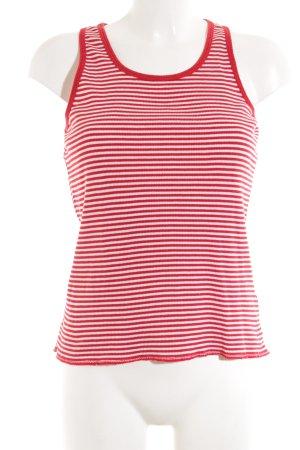 Tommy Hilfiger Camiseta sin mangas rojo-blanco look casual