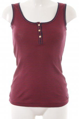 Tommy Hilfiger Tanktop dunkelblau-rot Streifenmuster Casual-Look