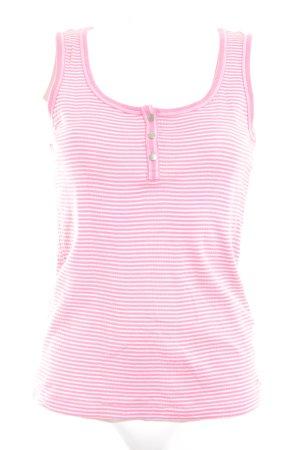 Tommy Hilfiger Tanktop pink-weiß Streifenmuster Casual-Look