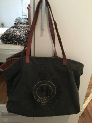 Tommy Hilfiger Tasche (groß) grau/ Cognac