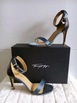 Tommy Hilfiger TH *Janet Top Tier 2c* High-Heels Sandaletten Riemchenpumps Peeptoes Blau  -Größe 39