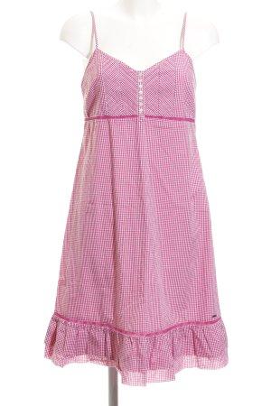 Tommy Hilfiger Trägerkleid pink-weiß Karomuster Beach-Look