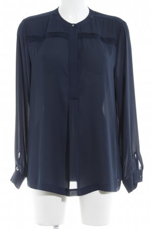 Tommy Hilfiger Transparenz-Bluse dunkelblau Casual-Look
