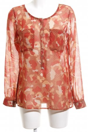 Tommy Hilfiger Transparenz-Bluse Mustermix Casual-Look