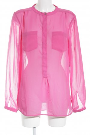 Tommy Hilfiger Transparenz-Bluse pink