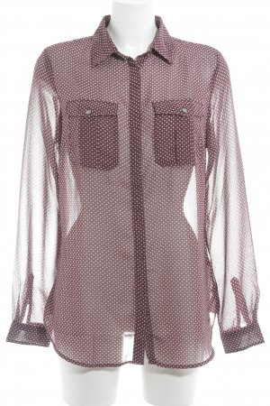 Tommy Hilfiger Transparante blouse paars-wit grafisch patroon casual uitstraling