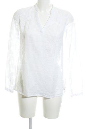 Tommy Hilfiger Transparenz-Bluse wollweiß Streifenmuster schlichter Stil