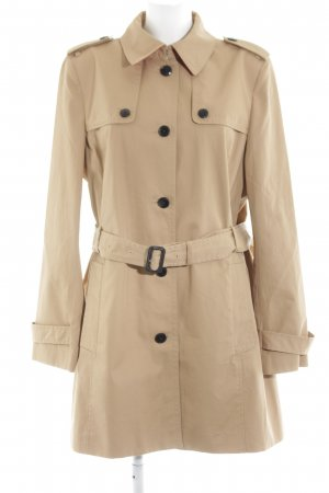 Tommy Hilfiger Trenchcoat creme-schwarz Business-Look